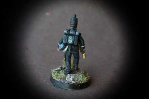 British 95th Rifles,miniaturain plastica 28mm Perry Miniatures,pittura Giallinovagabondo
