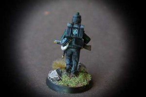 British 95th Rifles,miniatura in plastica 28mm Perry Miniatures,pittura Giallinovagabondo