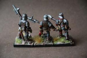 English Billmen War of Roses,miniature Grenadier metallo 28mm,pittura giallinovagabondo