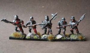 English Billmen War of Roses,miniature Grenadier metallo 28mm,pittura giallinovagabondo