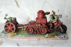 Space Orks Skorcha,miniatura metallo 28mm Games Workshop,pittura e rielaborazione giallinovagabondo