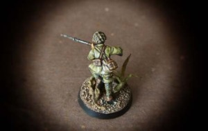 Imperial Japanese infantry,miniatura 28mm plastica Warlord Games,pittura giallinovagabondo