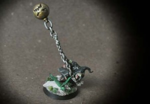Night Goblin Fanatics, miniatura plastica Games Workshop 28 mm, pittura giallinovagabondo