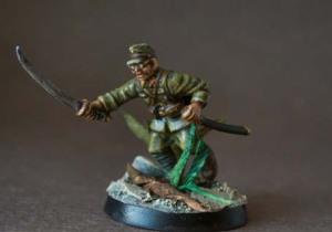 Japanese Officer,miniatura plastica 28mm Warlord Games,pittura giallinovagabondo