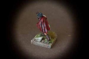 Balearic Slinger, miniatura in metallo 28 mm della Warlord Miniatures,pittura giallinovagabondo