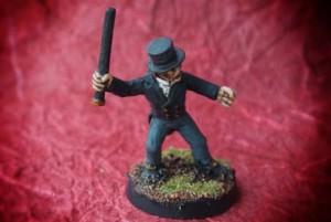 mister Hyde,miniatura 28mm metallo,Wargames Foundry,pittura giallinovagabondo
