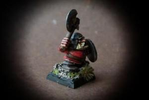 Dwarf Warrior,miniatura Citadel 28 mm plastica,pittura giallinovagabondo