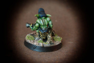 Gretchin,miniatura in plastica 28mm Games Workshop,pittura giallinovagabondo
