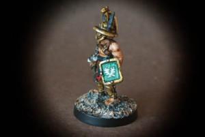 Gladiatore Trace, miniatura metallo 28mm Crusader Miniatures,pittura giallinovagabondo