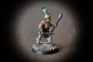 Veles,miniatura 28 millimetri, metallo della Crusader Miniatures,pittura giallinovagabondo