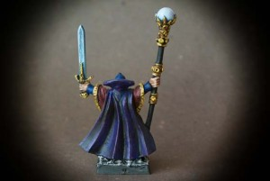 Imperial Wizard, miniatura in metallo 28mm Games Workshop, pittura giallinovagabondo