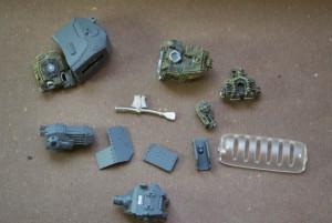 pezzi provenienti da diversi kit, scarti di lavorazione o riciclati