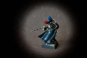 Capitano Imperiale,miniatura in plastica 28mm Games Workshop,pittura giallinovagabondo
