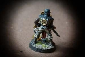 Cultista del Chaos, miniatura in plastica Games Workshop 28mm per Warhammer 40,000,pittura giallinovagabondo