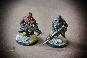 Cultisti del Chaos, miniature in plastica Games Workshop 28mm per Warhammer 40,000,pittura giallinovagabondo