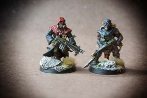 Cultisti del Chaos, miniature in plastica Games Workshop 28mm per Warhammer 40,000, pittura giallinovagabondo