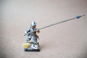Picchiere Scots Covenanters, miniatura plastica 28mm Warlord Games,pittura giallinovagabondo