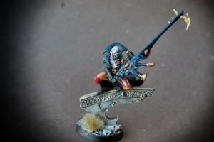 Death Jester degli Arlequins,miniatura in plastica per warhammer 40,000, 28mm Games Workshop,pittura giallinovagabondo