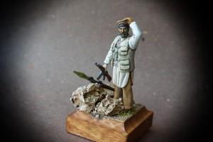 Combattente Talebano,miniatura Verlinden scala 1:35,pittura giallinovagabondo