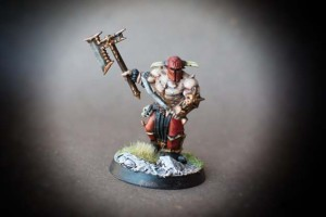 Bloodreavers di Korne, miniature 30mm circa in plastica Games Workshop per Age of Sigmar, pittura giallinovagabondo