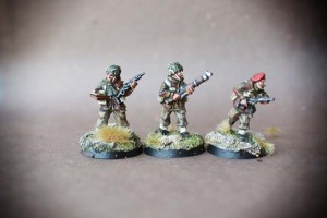 WWII British Paratroops,miniature in metallo 28 mm Artizan Designs,pittura giallinovagabondo