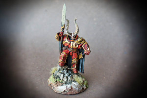 Khaos Lord, miniatura plastica 30mm Games Workshop,pittura giallinovagabondo