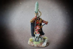 Khaos Lord, miniatura plastica 30mm Games Workshop,pittura giallinovagabondo