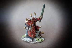 Crom,miniatura in metallo Games Workshop,Age of Sigmar,pittura giallinovagabondo