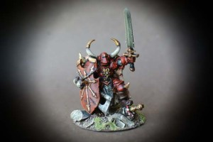Crom,miniatura in metallo Games Workshop,Age of Sigmar,pittura giallinovagabondo