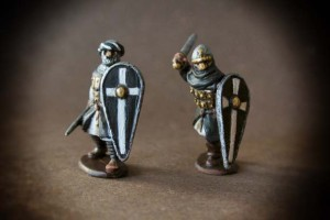 Sergenti Ospitalieri,miniature in metallo 28 mm Gripping Beast,pittura giallinovagabondo