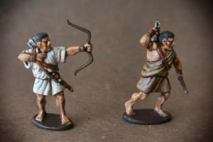 Arcieri Greci ,miniature 28mm plastica Victrix,pittura giallinovagabondo