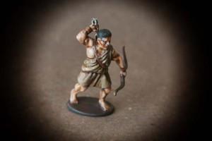 Arciere Greco,miniature 28mm plastica Victrix,pittura giallinovagabondo