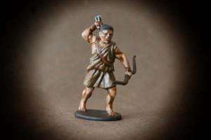 Arciere Greco,miniatura 28mm plastica Victrix,pittura giallinovagabondo