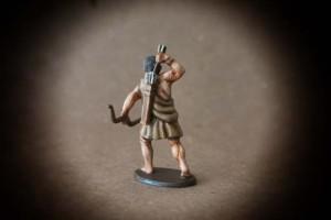 Arciere Greco ,miniatura 28mm plastica Victrix,pittura giallinovagabondo