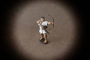 Arciere Greco ,miniatura28mm plastica Victrix,pittura giallinovagabondo