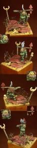 TankaWanka, miniatura in resina della Alchemy Miniatures, pittura Stefano Balestreri