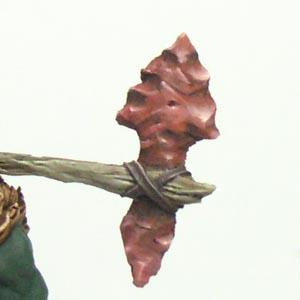 Particolare arma lumeggiata