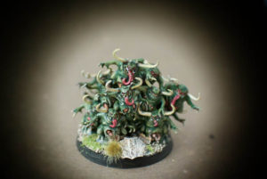 Nurglins,miniature in plastica Age of Sigmar,Games Workshop,pittura Giallinovagabondo