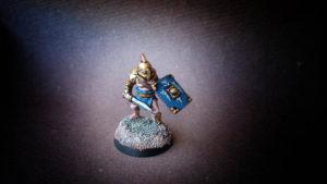 Secutor miniatura 28mm metallo, Crusader Miniatures, pittura Giallinovagabondo