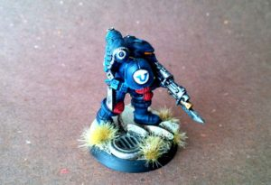 Space Marines 2016,miniatura in 28mm, plastica,Games Workshop,pittura giallinovagabondo